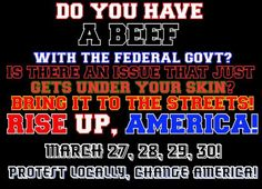 March 27-30 protests against Obama, illegal immigration, and run amok federal government... http://www.alipac.us/fox-news-takes-dive-amnesty-new-round-national-protests-march-27-30-3537/