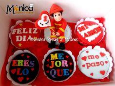 Cupcakes con mensaje para un bombero, elaborado por MONICA PASTAS Y DULCES
