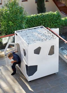 Kyoto Mini kids playhouse. Modern design, easy to assembly, safest on market, and very robust. Ideal for terrace or small garden