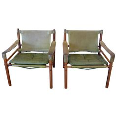 "1stdibs | Pair of Arne Norell Sirocco ""Safari"" Chairs"
