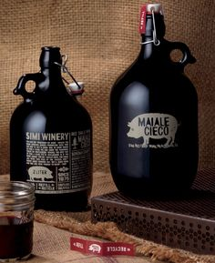 SIMI Winery, Red Wine Growler by Christian McDaniel #alcohol #product #packaging #design #identity #logo #package #good #unique #simi #winery #red #wine #christian #mcdaniel