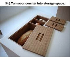 in counter food storage