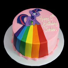 My Little Pony Cake By Butterfly Bakeshop Birthday Sheet Cakes, 4th Birthday Cakes, Birthday Ideas, My Little Pony Party, My Little Pony Cupcakes, Sparkle Cake, Girl Cakes, Nightmare Moon, Princess Celestia
