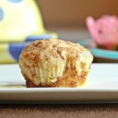 Vanilla Muffins Swirled with Cinnamon Brown Sugar