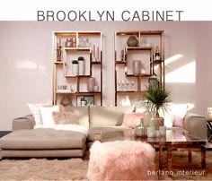 Lifestyle Open metalen kast Brooklyn Cabinet goudkleur / metaal
