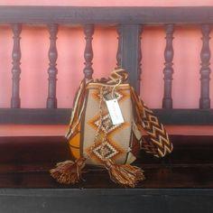 Wayuu Bag / Hand-Woven / Earthy Colors / Indigenous Mochila by CasaLunaCo on Etsy