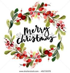 stock-photo-christmas-card-watercolor-painting-with-hand-lettering-berry-wreath-… – Christmas DIY Holiday Cards Watercolor Christmas Cards, Christmas Photo Cards, Watercolor Cards, Xmas Cards, Christmas Art, Christmas Photos, Holiday Cards, Watercolor Paintings, Christmas Wreaths