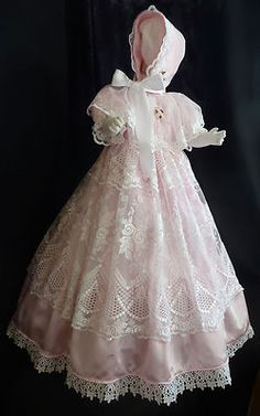 Vintage Christening gown with bonnet; gorgeous!