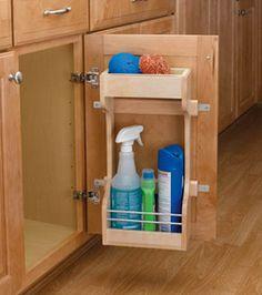 Cabinetstorage.com: 4SBSU Series Sink Base Door Storage Organizer by Rev-A-Shelf $54.-67 #kitchensource