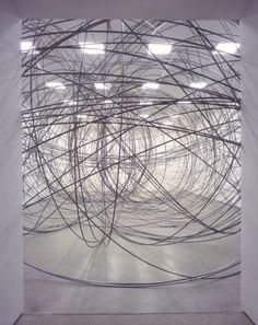 Antony Gormley - Clearing; crazy someone could make a sculpture that looks like a child's scribble. amazing.