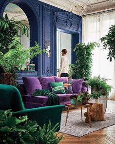 Vintage Blue Living Room Design Ideas You Must Have - Colourful kitchens and rooms - Home Design House Design, Blue Living Room, Room Decor, Decor, Interior Design, House Interior, Living Room Decor, Home, Living Room Designs