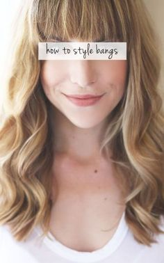 how to style bangs.