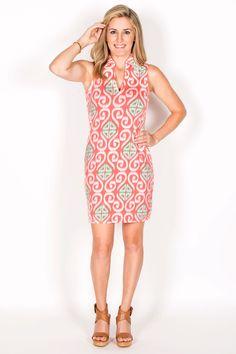 Laila Sleeveless Fitted Shirt Dress-Swirls By Tracy Negoshian