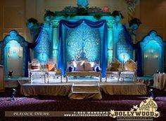 Bollywood Mandap -- beautiful blues..