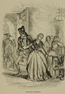 Illustration of Madame du Barry being taken to the guillotine