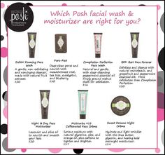 Which Posh facial wash is right for you? I love the complexion perfection face wash! https://www.perfectlyposh.com/lillicollins
