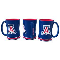 Arizona Wildcats Coffee Mug - 14oz Sculpted Relief