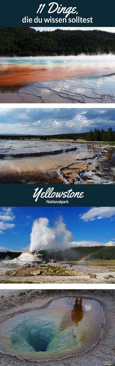 Der Yellowstone Nationalpark ist einer der großen Nationalparks in den USA und man kann ihn ganz leicht unterschätzen. Erfahre hier, was du vor deinem Besuch wissen solltest. #yellowstone #nationalpark