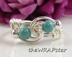 Pearl Ring Pearl Jewelry Dainty Ring Delicate Ring by theWRAPstar, $14.95