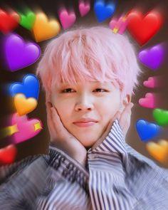 new Ideas memes apaixonados kpop Bts Jimin, Bts Taehyung, Bts Bangtan Boy, Bts Cute, Park Jimin Cute, Bts Emoji, Heart Meme, Les Bts, Bts Meme Faces