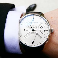 """""""Ready for the big meeting and looking sharp with the Masterpiece Double Retrograde. #MLonMyWrist"""""""