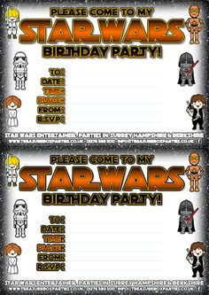Free Star Wars Downloads for Kids! Wordsearches and Printable Birthday Party Invitations!