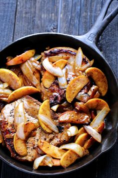Ali Ebright's Apple Cinnamon Pork Chops. #Pork4Comfort