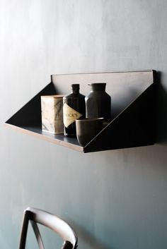 Large Wall Mounted Metal Display Shelf