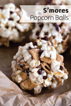 These S'mores Popcorn Balls make your favorite summer campfire flavor combination a portable dessert treat. Check out the full recipe to see how easy it is to make these marshmallow, chocolate, and graham cracker sweet treats for yourself.