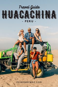 Huacachina Travel Guide: This desert oasis in Peru is one of the biggest in South America! Enjoy sand boarding, and get to know Huacachina in this guide. South America Destinations, Top Travel Destinations, South America Travel, Best Places To Travel, Costa Rica Travel, Peru Travel, Travel Abroad, Machu Picchu, Bolivia