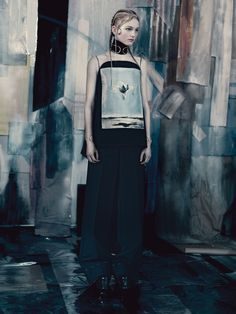 """Jean Campbell """" Garden Display """" by Paolo Roversi Vogue UK May 2014"""