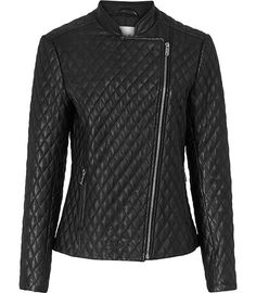 Reiss Ltd Reiss Merlot Quilted Leather Jacket | Coat, Jacket and Clothing