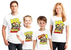 Personalizado juguete historia cumpleaños fiesta camisetas, para niños, niñas y familia juego camisas... Envío del día siguiente