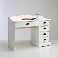 Bureau blanc, authentic style La Redoute Interieurs   La Redoute