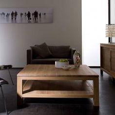 Two level oak coffee table