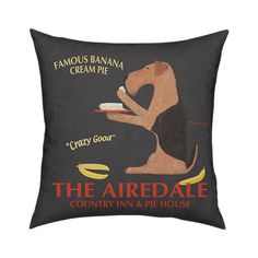 Creatively designed, this Airedale Pillow is sure to bring a pop of color to your space and a smile on your face.