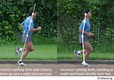 By leaning forward from ankles, we can take advantage of gravity and then the momentum created allowing our bodies to fall forward in a controlled manor. In a sense, running is just that a controlled forward fall- Runner Video Analysis Good Running Form, Proper Running Form, Proper Running Technique, Running Injuries, Running Workouts, Running Tips, Trail Running, Posture Stretches, Good Posture
