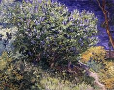 Vincent van Gogh (1853-1890): Lilac Bush, 1889. Created in Saint-Rémy, France. Oil on canvas, 72 x 92 cm. The State Hermitage, Saint Petersburg, Russia.