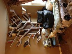 Tree bookshelf DIY makes a great center piece for a book nook