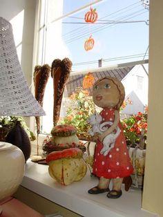 Morkusovic.blogspot Ooak Dolls, Paper Mache, Ceramic Pottery, Stoneware, Clay, Christmas Ornaments, Holiday Decor, Funny, People