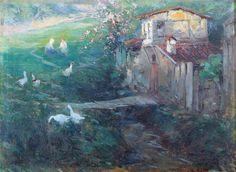 Sami Yetik (1878-1945)   Zekeriyaköy Tual üzerine yağlıboya İmzalı