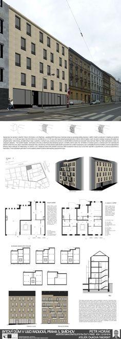 Studentský projekt. LS 2013/2014. FSv ČVUT v Praze. Praha, Floor Plans, Architecture, Arquitetura, Architecture Design, Floor Plan Drawing, House Floor Plans