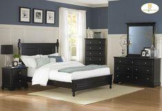 Homelegance 1356BK Black Morelle Bedroom Set
