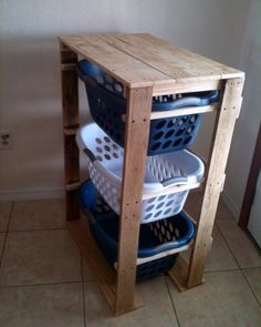 Laundry basket holder! Hard but fun