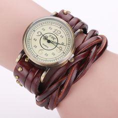 High Quality Vintage Cow Leather Rivet Watch Women Antique Wrist Watch Casual Quartz Watch Relogio Feminino Reloj Mujer BW1513