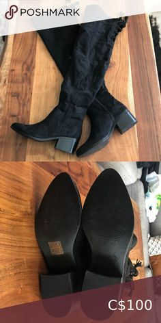 NWOT Call It Spring Over The Knee Boots NWOT Call It Spring Over The Knee Boots  Brand new, never worn. Call It Spring Shoes Over the Knee Boots Black High Boots, Thigh High Boots, High Heel Boots, Brown Boots, Suede Boots, Over The Knee Boots, Heeled Boots, Flat Booties, Black Knees