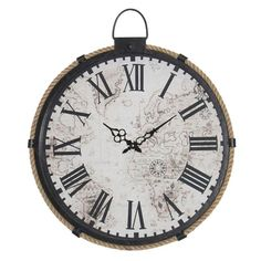 Relógio de Parede String Vintage em Metal - 50x50 cm