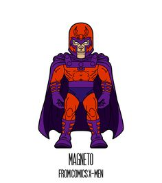 MAGNETO  http://herosandvillains.tumblr.com/post/12234737017 by TM