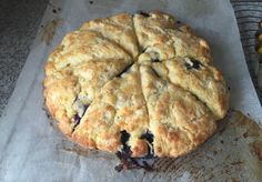 Blueberry scone round