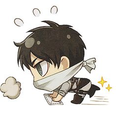 Attack on Titan : cleaning chibi Armin, Levi X Eren, Kawaii Chibi, Cute Chibi, Cute Characters, Anime Characters, Chibi Eren, Anime Suggestions, Dream Anime